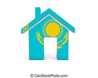 maison, drapeau, kazakhstan
