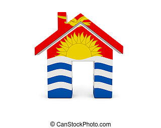maison, drapeau, kiribati