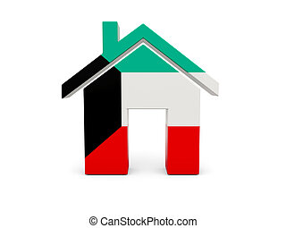 maison, drapeau, koweït