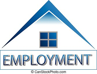 maison, emploi, bureau, togive, logo