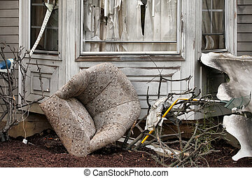 maison, endommagé, désastre