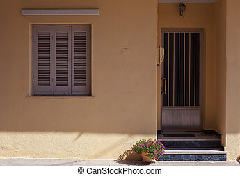 maison, entrée, détails