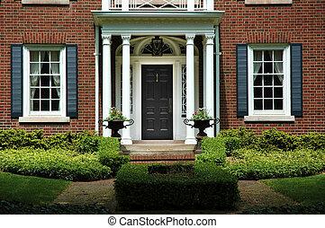 maison, entrée, formel