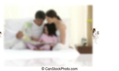maison, famille, délassant