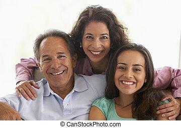 maison, famille, ensemble