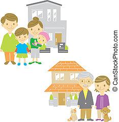 maison, famille, maison