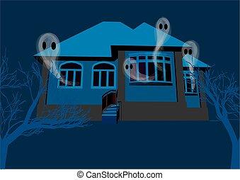 maison, fantômes