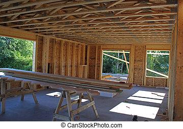 maison, fenêtre, construction, vue.