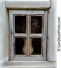 maison, fenêtre, détail