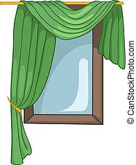 maison, fenêtre, dessin animé