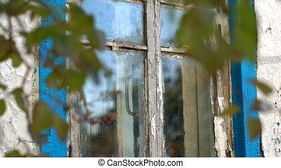 maison, fenêtre, vieux