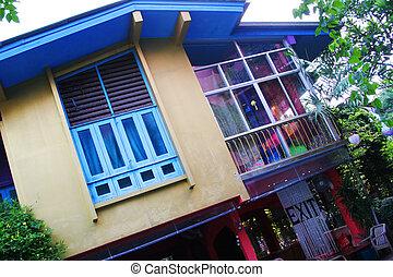 maison, froussard, tropiques