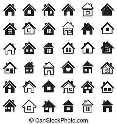 maison, icônes