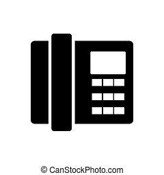 maison, icon., téléphone, plat, design.