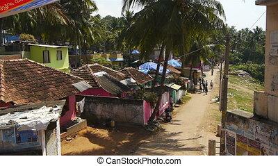 maison, indien, village