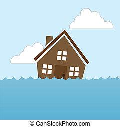 sien inond maison image toit help crier homme illustration vecteurs rechercher des. Black Bedroom Furniture Sets. Home Design Ideas