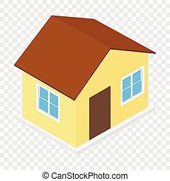maison, isométrique, 3d, icône