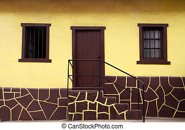 maison, jaune