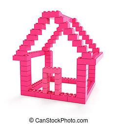 maison, jouet, bloc