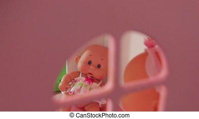 maison, jouet, poupée