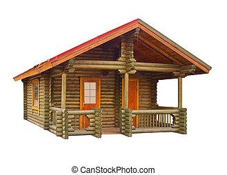 maison, journaux bord, construit