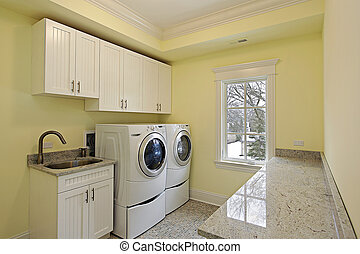 maison, lessive, luxe, salle