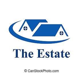 maison, logo, 4, résidentiel
