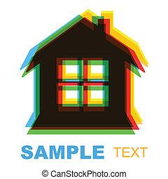 maison, logo