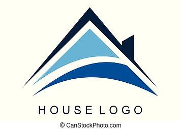 maison, logo, dsign, maison