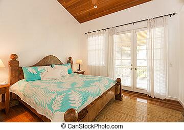 maison, luxe, chambre à coucher