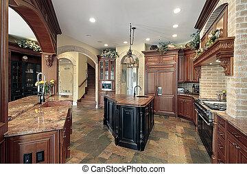 maison, luxe, cuisine