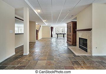 maison, luxe, sous-sol