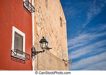 maison, méditerranéen,  village