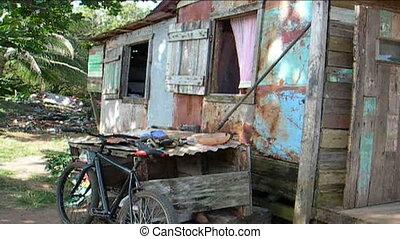 maison, maïs, typique, nicaragua, île