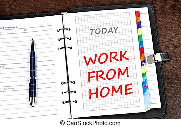 maison, message, travail