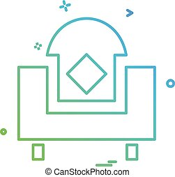 maison, meubles, vecteur, conception, icône