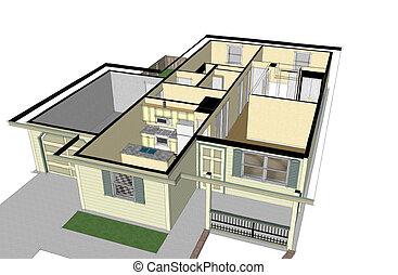 int rieur maison mod le technique maison int rieur clipart recherchez illustrations. Black Bedroom Furniture Sets. Home Design Ideas