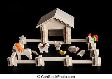 maison, modèle, jouet
