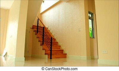 maison, moderne, escalier