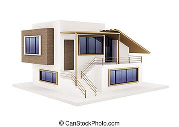 maison, moderne, extérieur