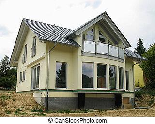maison, moderne, single-family