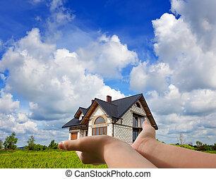 maison, mon, mains