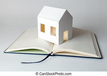 maison, mon, plan