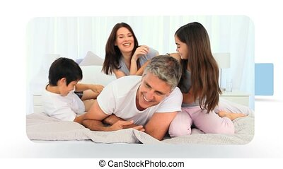 maison, montage, moments, partage, ensemble, famille