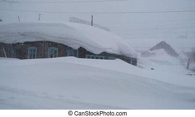 maison, neigeux