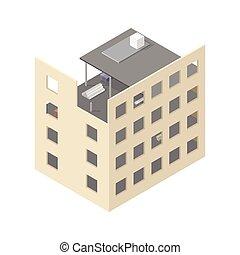 maison, nouveau, isométrique,  construction, sous