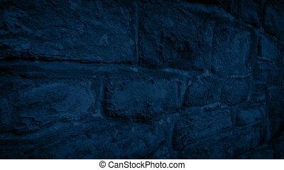 maison, nuit, dépassement, mur