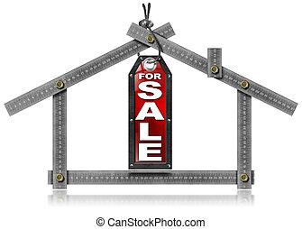 maison, outillage, métal, -, vente, mètre