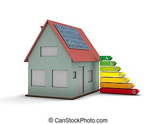 maison, panneau solaire