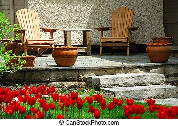 maison, patio